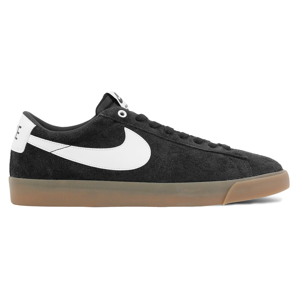 Nike SB Blazer Low Grant Taylor Shoes in Black / White - Metallic Gold