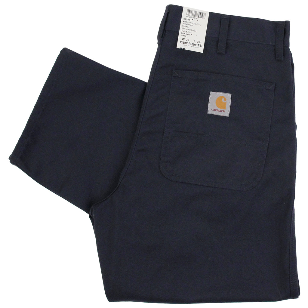 Carhartt Simple Pant in Dark Navy
