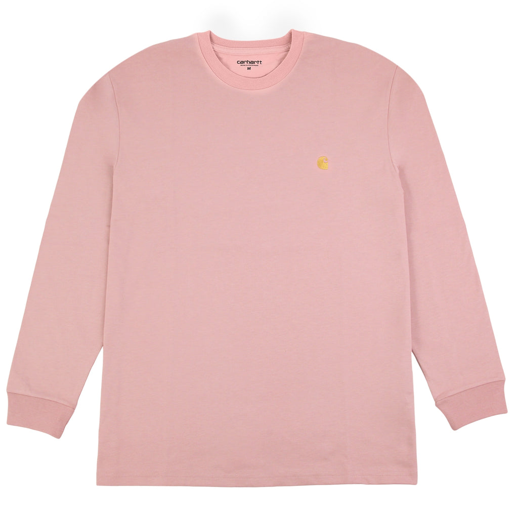Carhartt L/S Chase T Shirt in Soft Rose / Gold