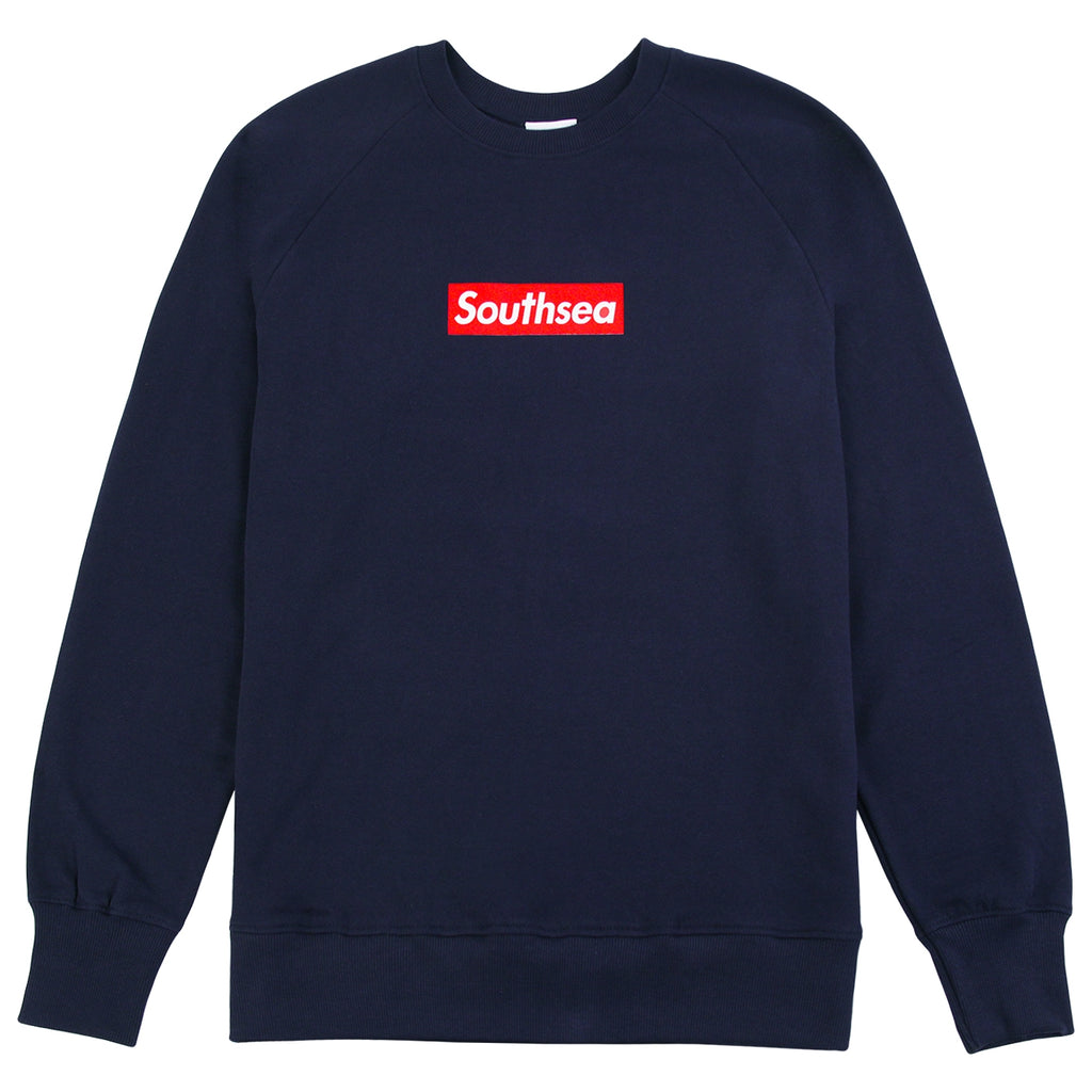 "Bored of Southsea ""Southsea"" Sweatshirt in Navy / Red Box"