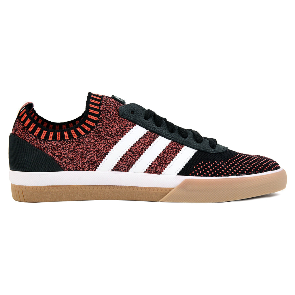 Adidas Skateboarding Lucas Premiere Primeknit Shoes in Core Black / FTW White / Trace Scarlet