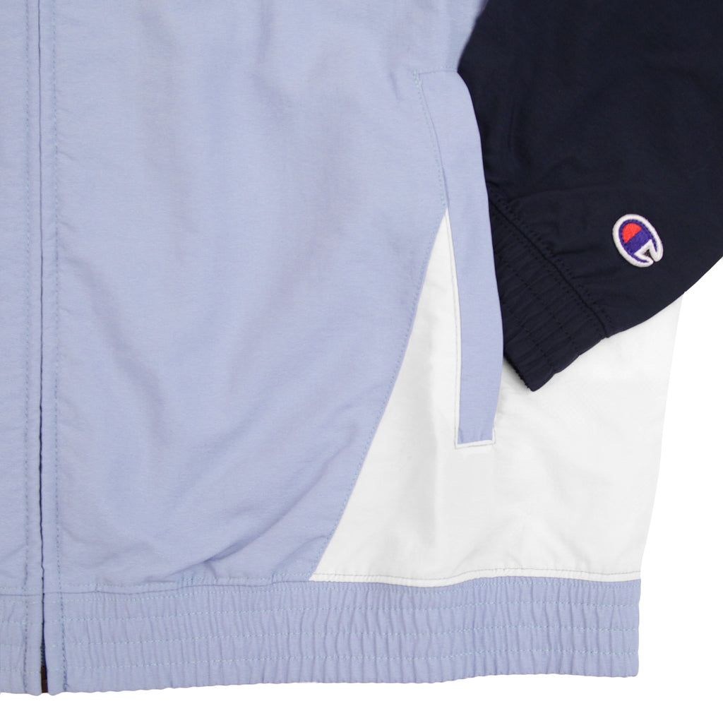 Champion Reverse Weave Colour Block Track Top in Lilac / Navy / White - Cuff