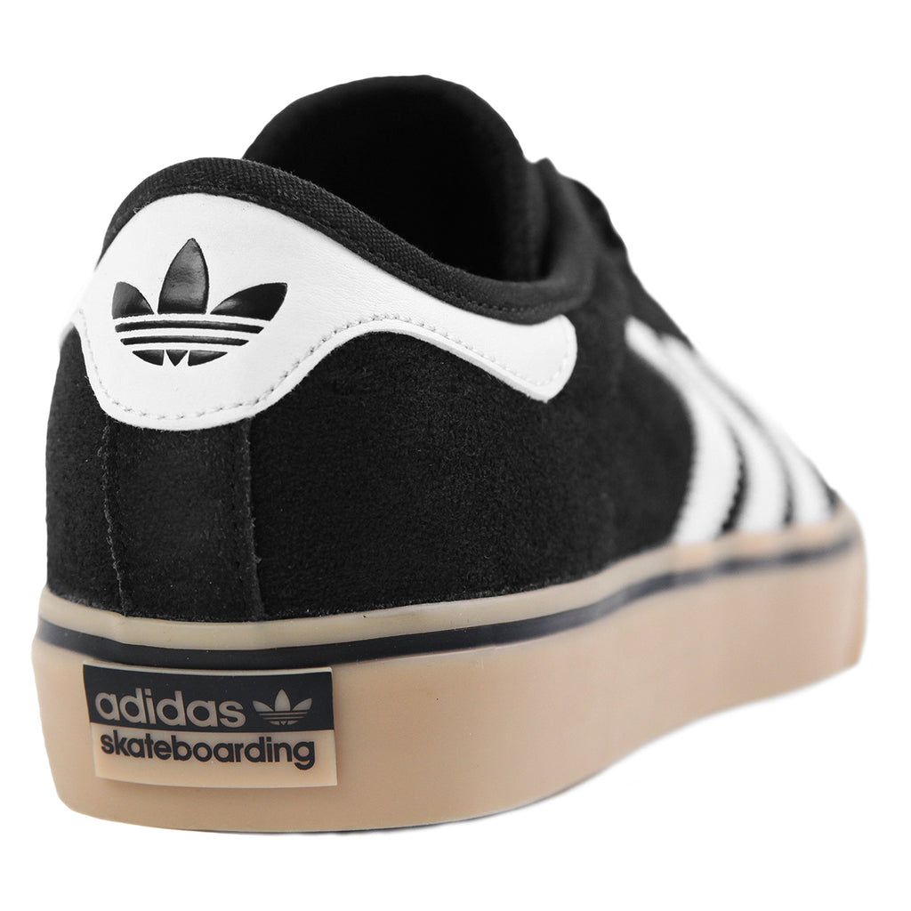 Adidas Skateboarding Adi Ease Premiere Shoes in Core Black / FTW White / Gum - Heel