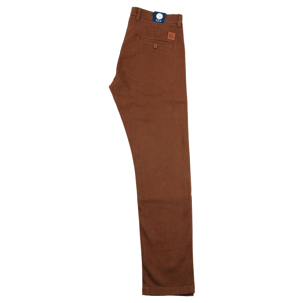 Polar Skate Co Flamingo Chino in Honey Brown - Leg