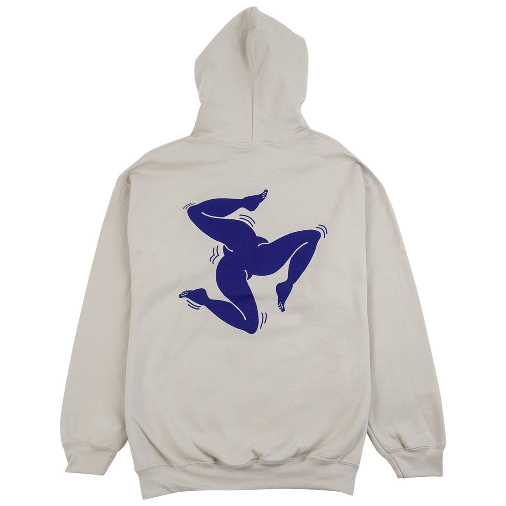 Call Me 917 Surf Legs Hoodie in Creme - Back
