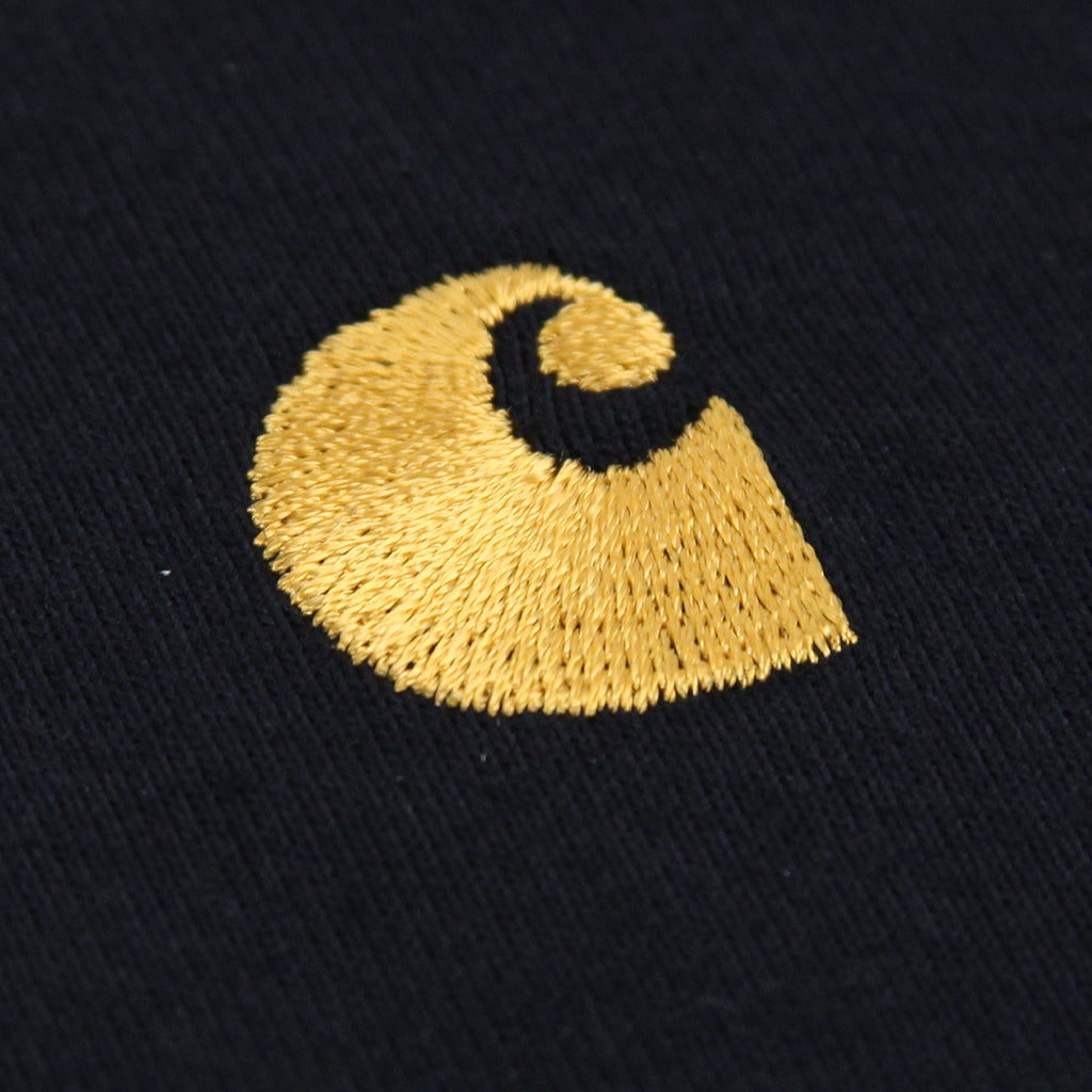 Carhartt Chase Polo Shirt in Dark Navy / Gold - Embroidery