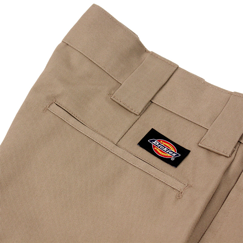 Dickies 273 Slim Fit Work Shorts in Khaki - Label