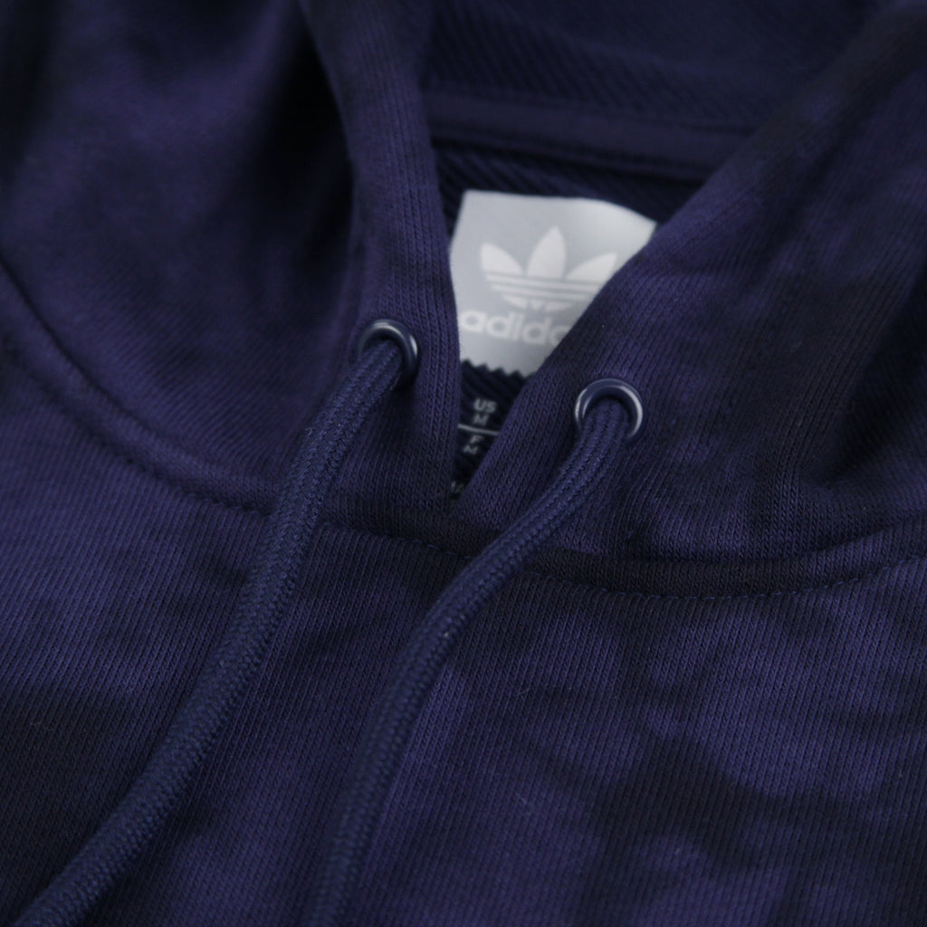 Adidas Skateboarding Clima 2.0 Crystal Wash Hoodie in Night Indigo / Black - Drawstrings