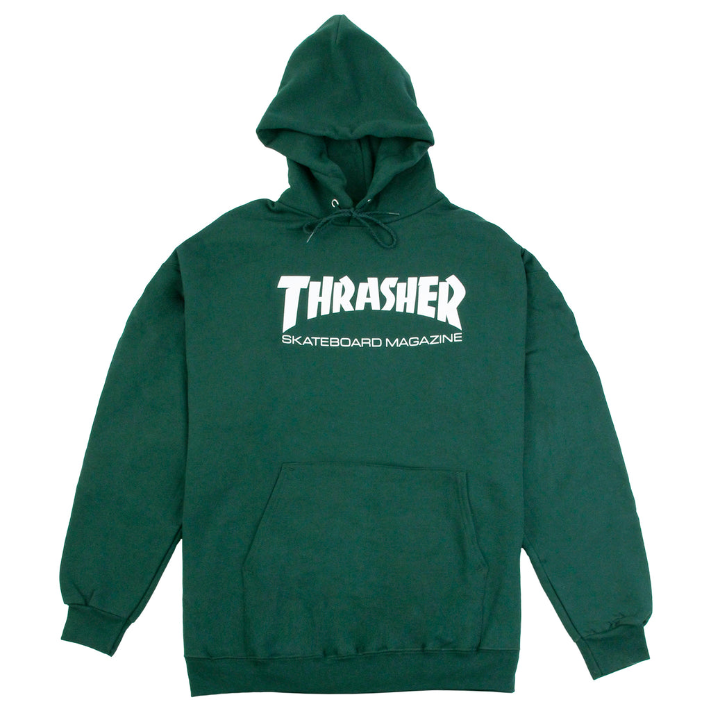 Thrasher Skate Mag Logo Hoodie in Forest Green