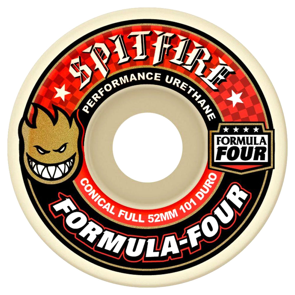 Spitfire Wheels Formula Four Conical Full Skateboard Wheels in Red - Profile