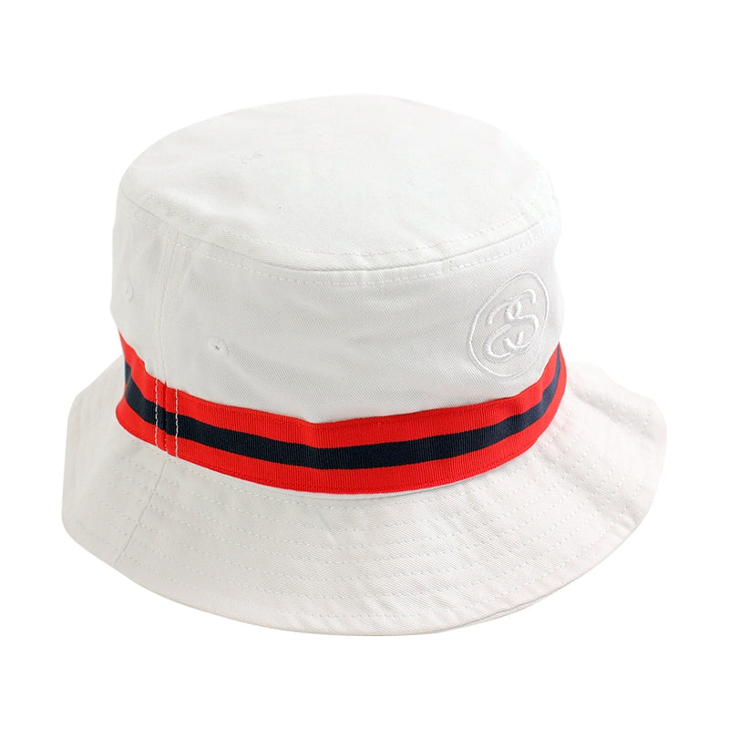 1dc300939d5 Link Band Bucket Hat in White by Stussy