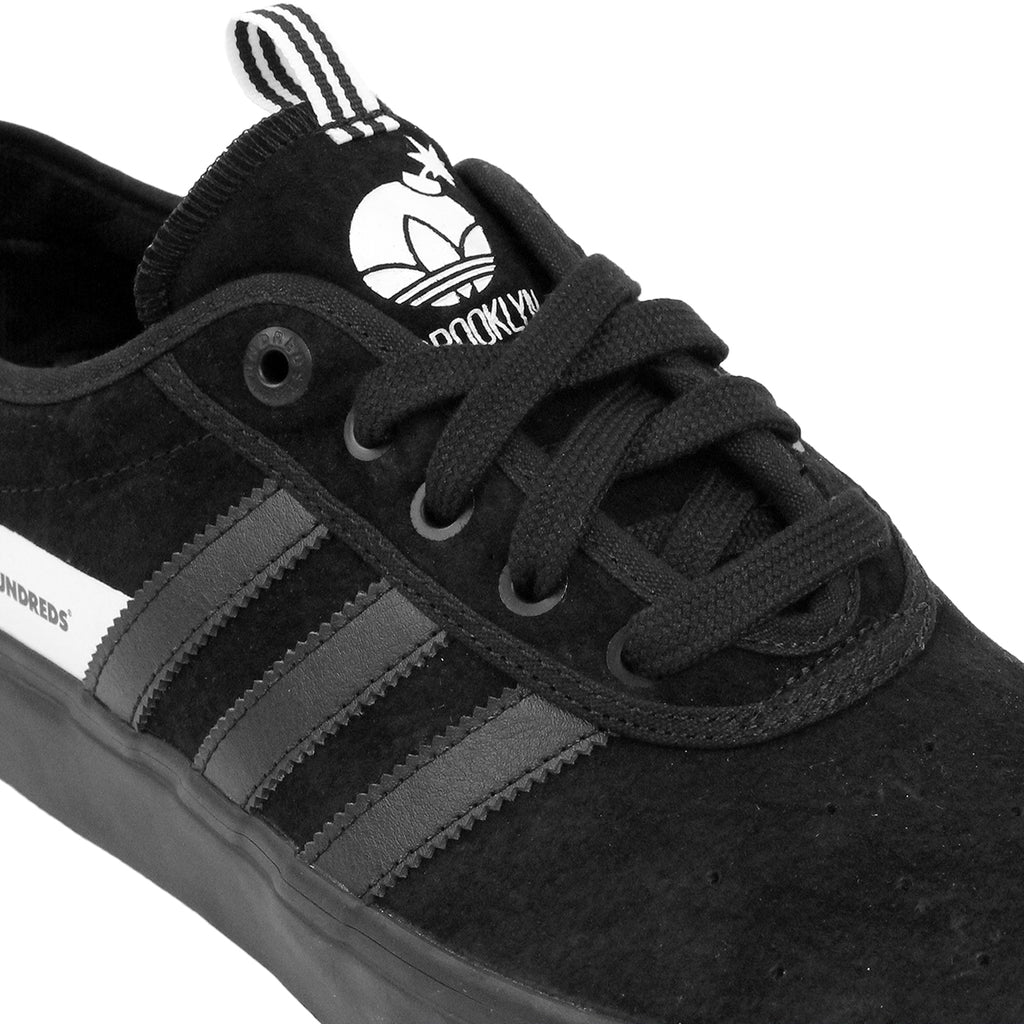 Adidas Skateboarding Adi Ease x Hundreds Shoes in Core Black/FTW White - Detail