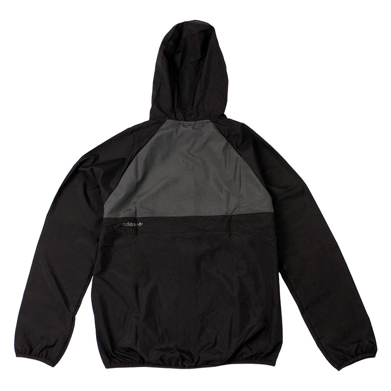 Adidas Skateboarding ADV Wind Jacket in Black/Solid Grey - Back
