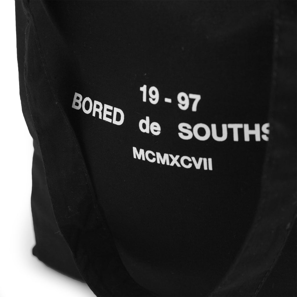 Bored of Southsea BDG Tote Bag in Black - Detail 2
