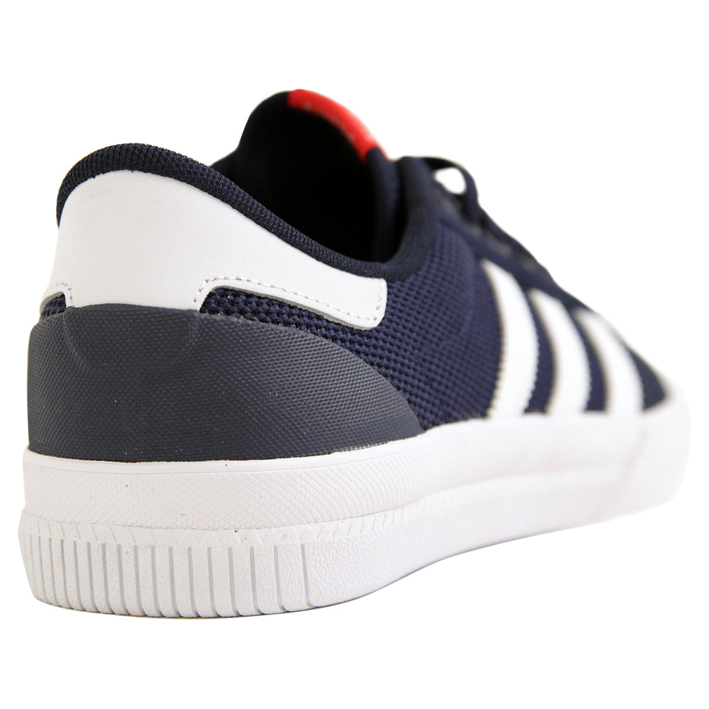 Adidas Lucas Premiere ADV Shoes in Collegiate Navy / White / Scarlet - Heel