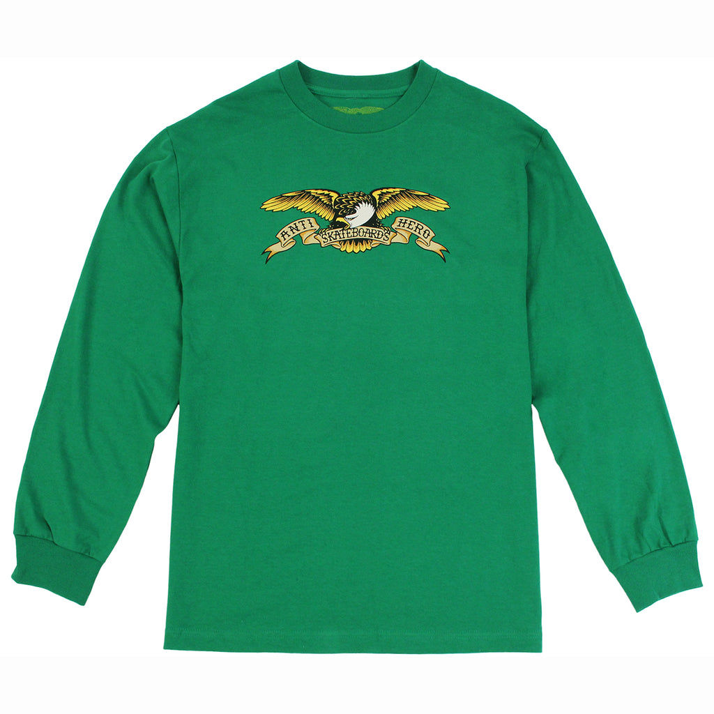 Anti Hero Skateboards Eagle L/S T Shirt in Kelly Green