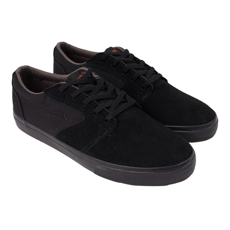 Lakai Fura Anchor in Black / Black Suede - Pair