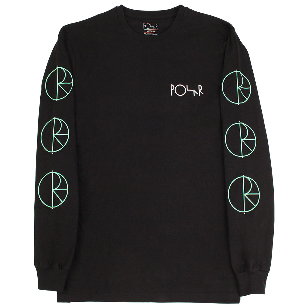 Polar Skate Co Racing L/S T Shirt - Black / Mint / White - Sleeves