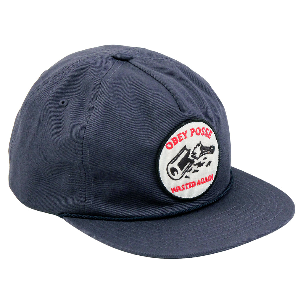 Obey Clothing Wasted Snapback Cap in Navy