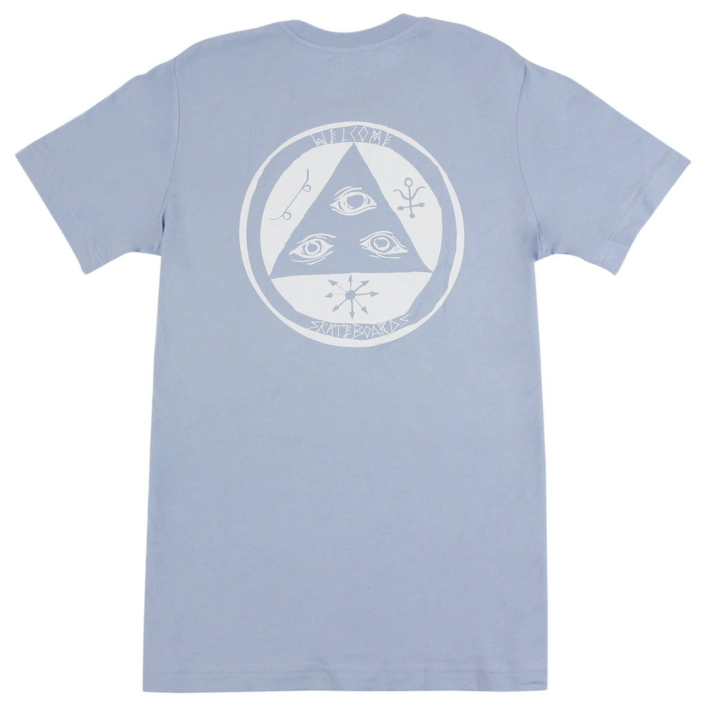 Welcome Skateboards Talisman T Shirt in Baby Blue / White