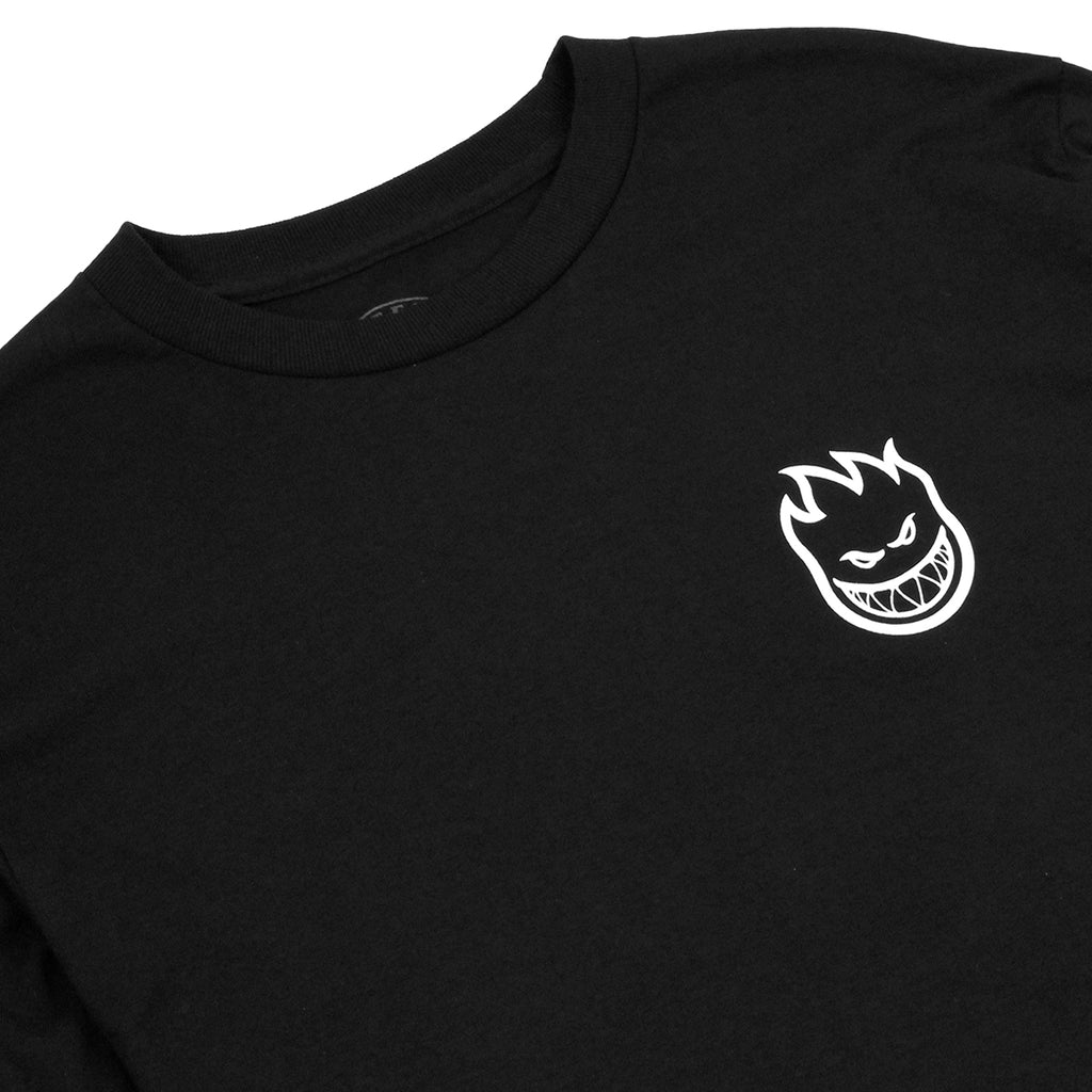 Bored of Southsea x Spitfire Wheels L/S T Shirt in Black - Detail