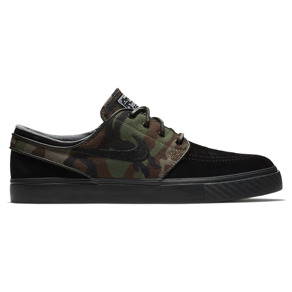 Nike SB Stefan Janoski OG Shoes in Black / Black - Medium Olive - White