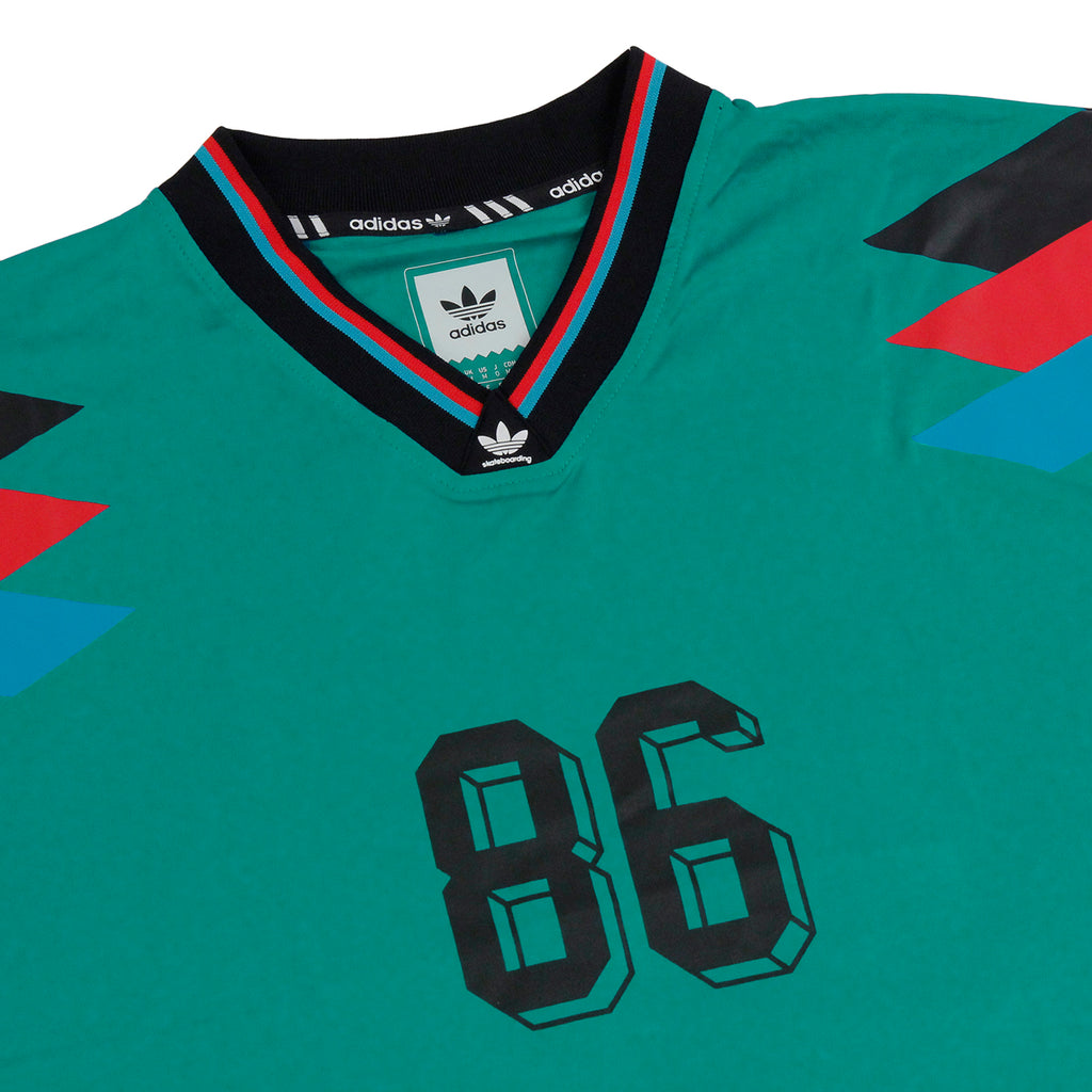Adidas Skateboarding Silas Germany Jersey in Green - Detail