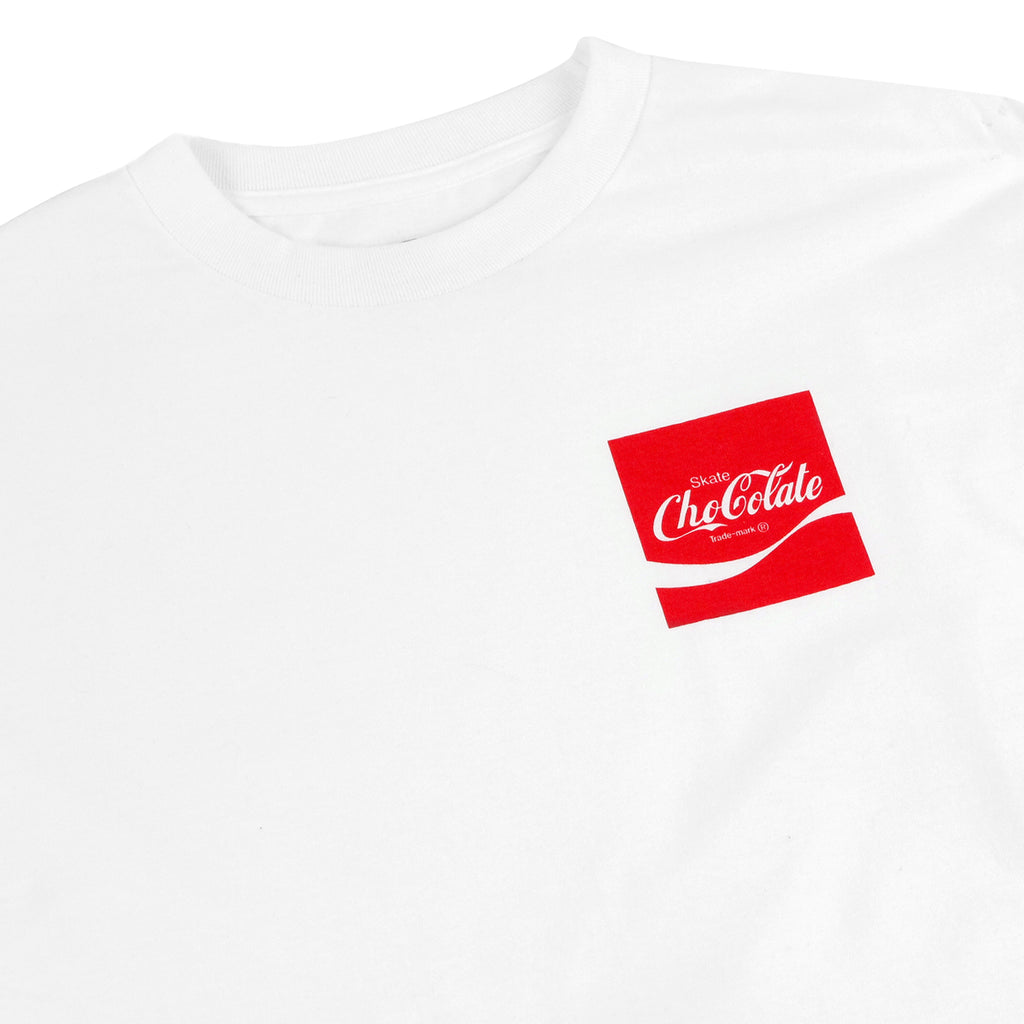 Chocolate Skateboards Cola L/S T Shirt in White - Detail