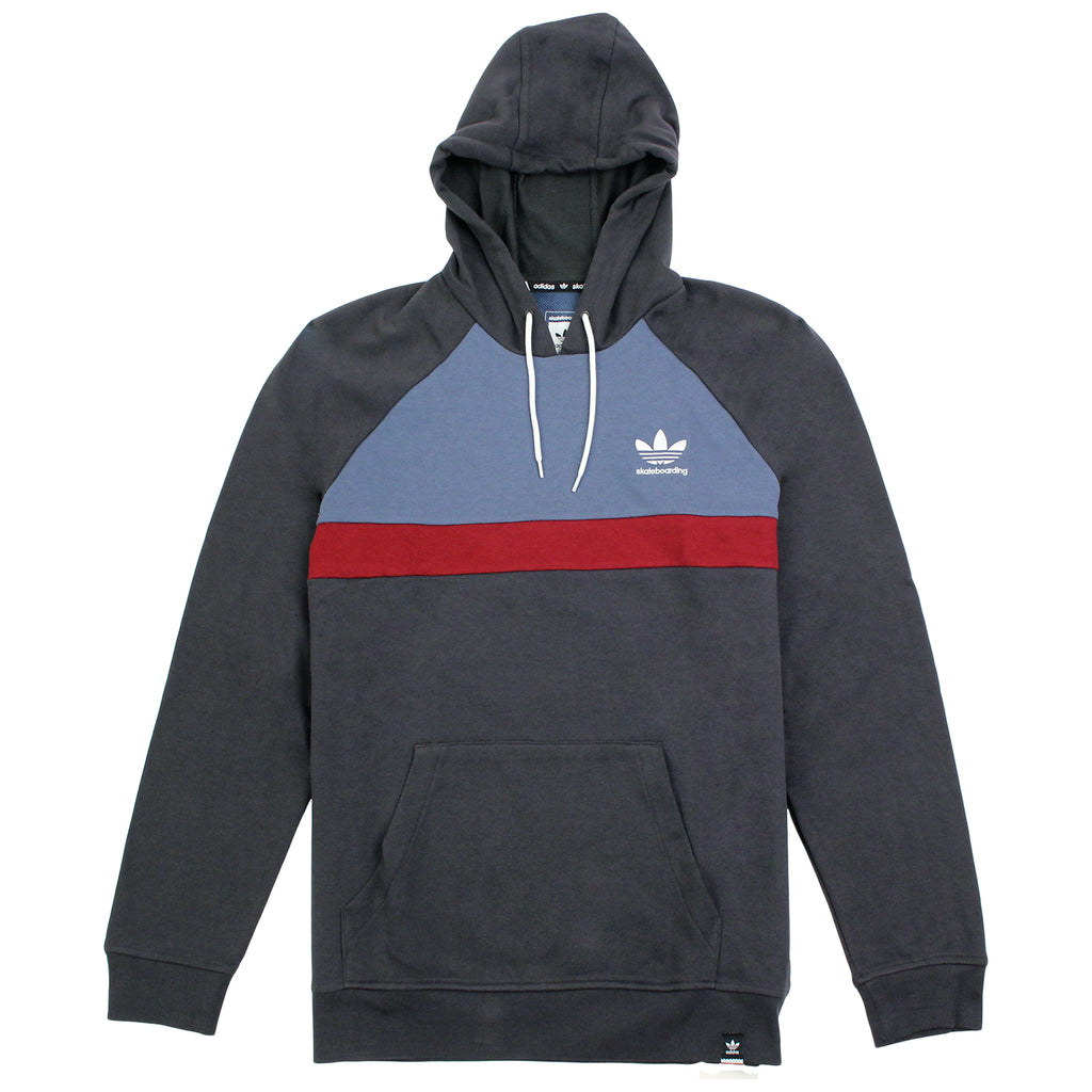 Adidas Skateboarding ADV Blocked Hoodie in Carbon / Faded Ink / Burgundy