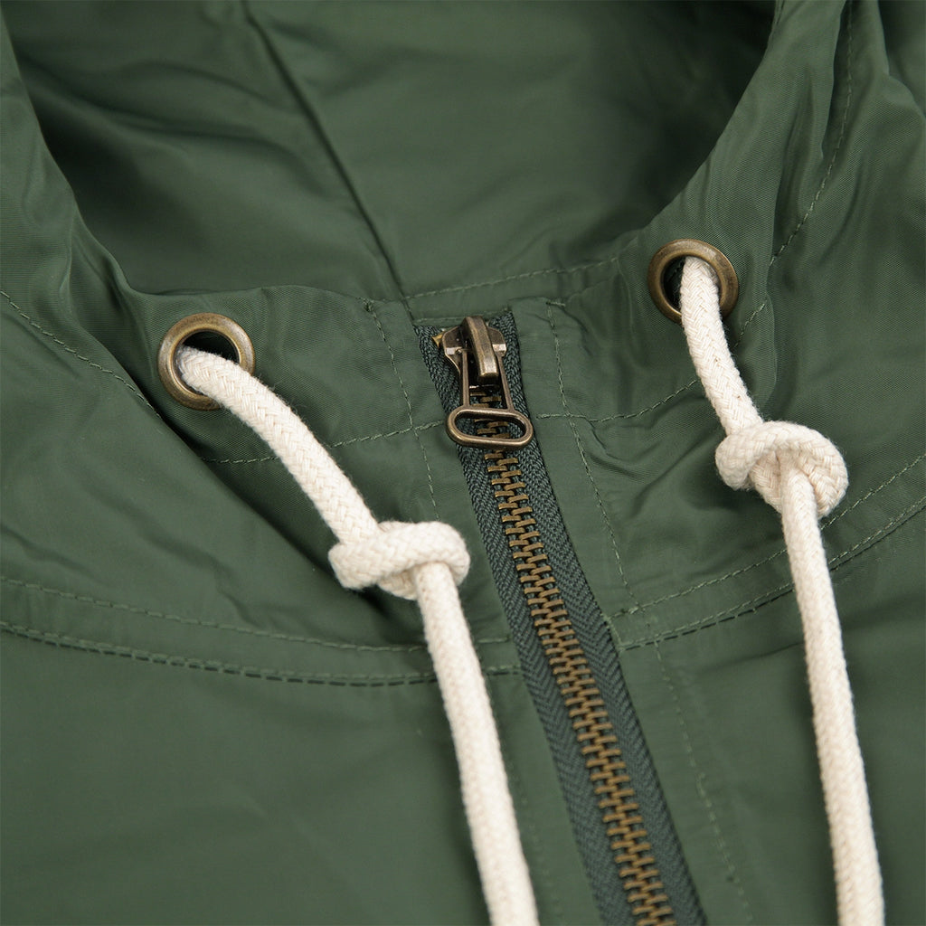 Champion Reverse Weave Half Zip Wind Jacket in Bottle Green - Zip