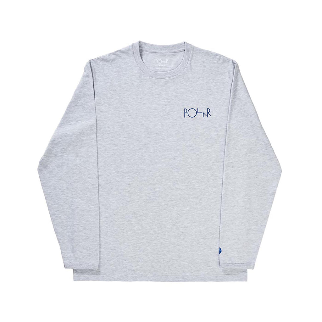 Polar Skate Co Halberg L/S T Shirt in Heather Grey