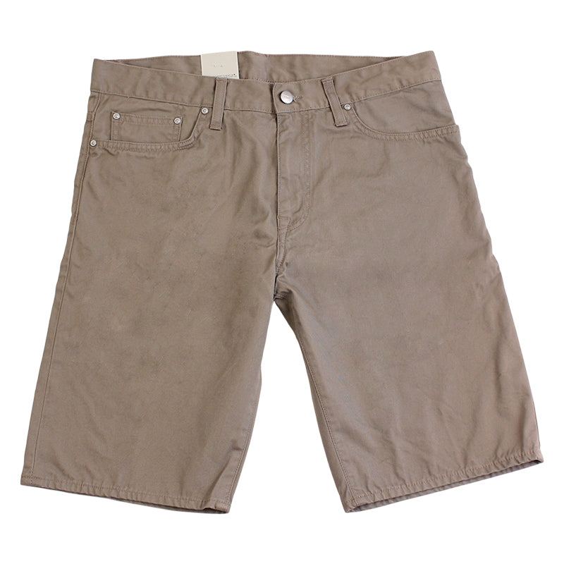 Davies Short in Leather Rinsed by Carhartt - Front