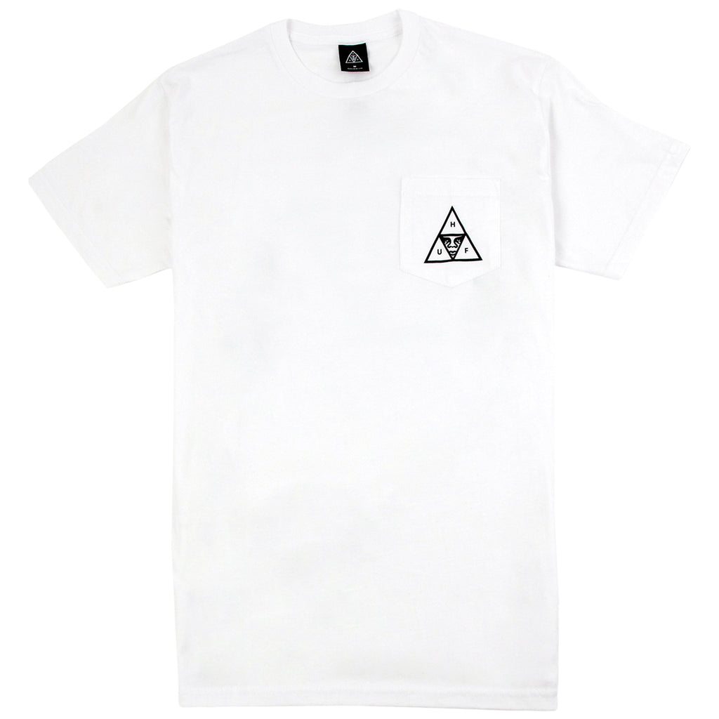 HUF x Obey Triple Triangle Pocket T Shirt in White