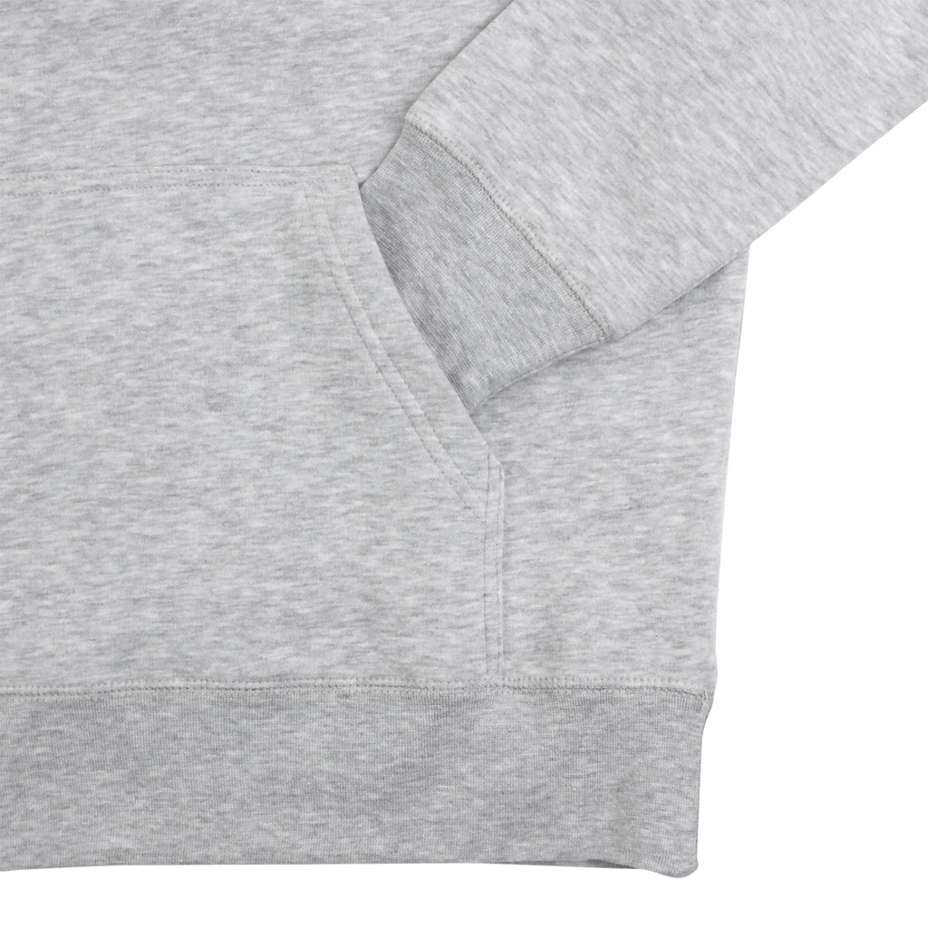 Polar Skate Co Fill Logo Hoodie in Sports Grey / Navy - Cuff
