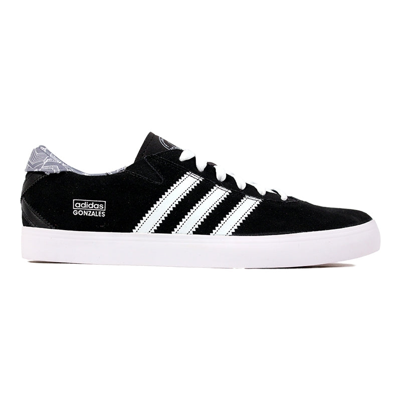 Adidas Skateboarding Gonz Pro Shoes in Black/FTW White/Grey