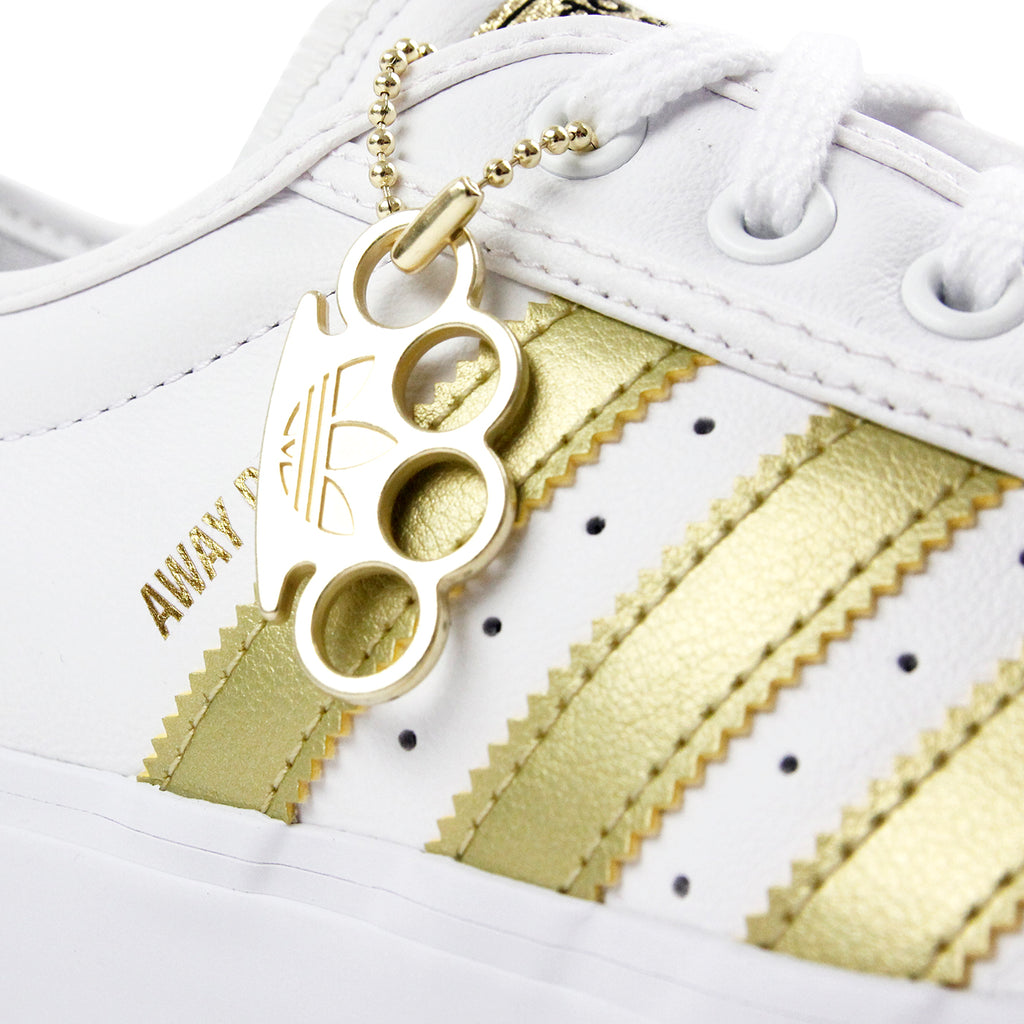 "Adidas Skateboarding Adi Ease Premiere ""Away Days"" Shoes - White / Gold Metallic / Gum - Knuckle Duster"