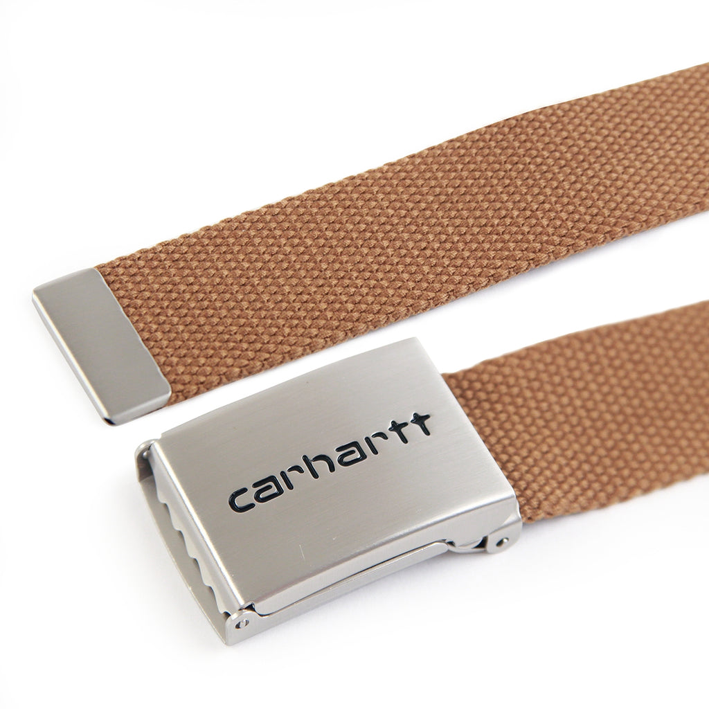 Carhartt Clip Belt Chrome in Hamilton Brown - Detail