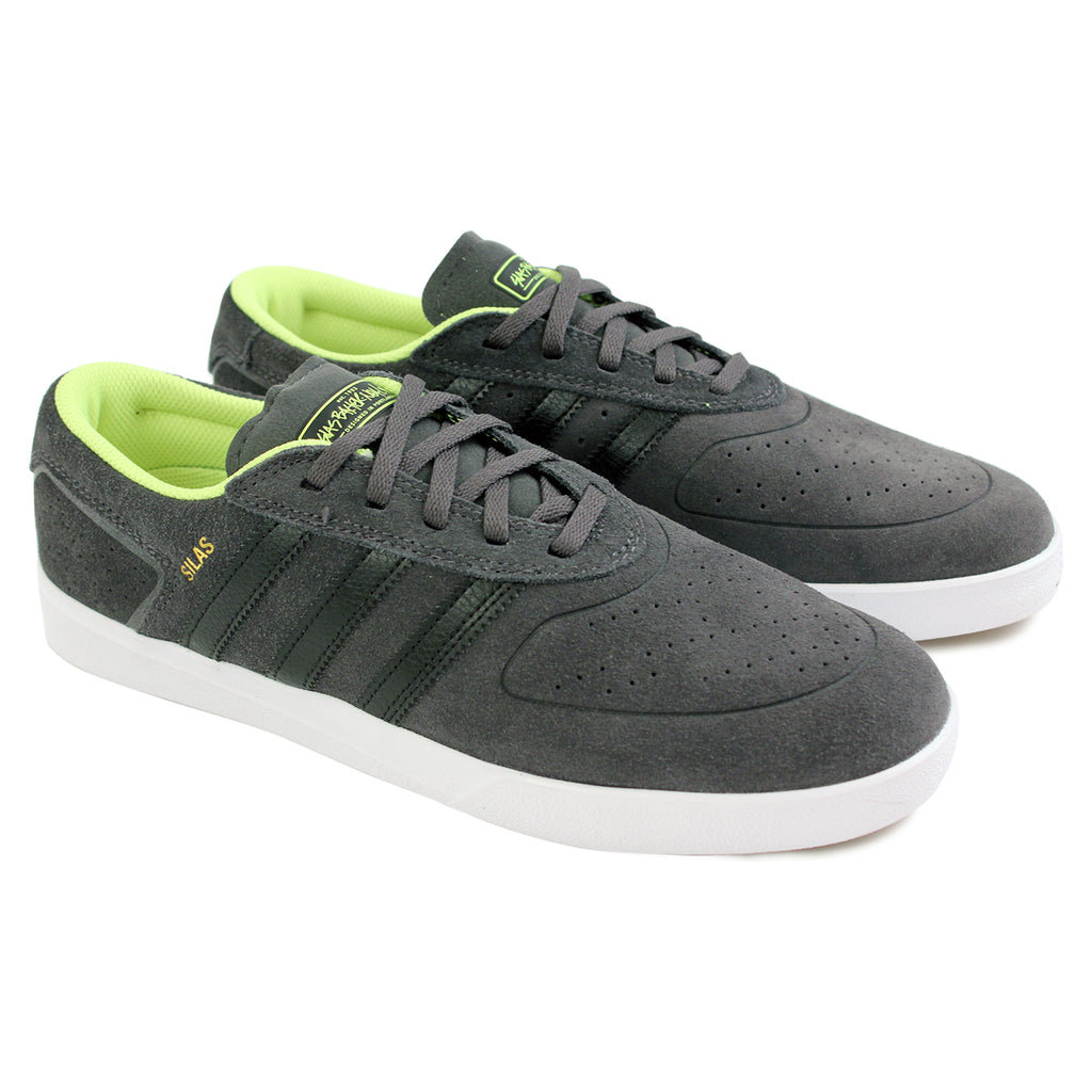 Adidas Skateboarding Silas ADV Shoes in Solid Grey/Black/Solar Yellow - Pair