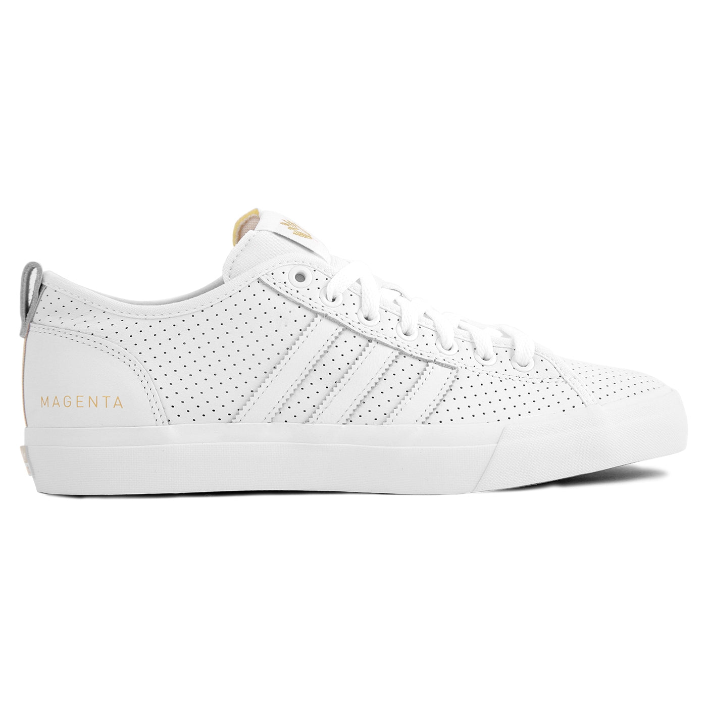 sports shoes 67ab9 4cca1 Adidas x Magenta Skateboards Matchcourt RX Shoes - White  Gold Metallic   Gum