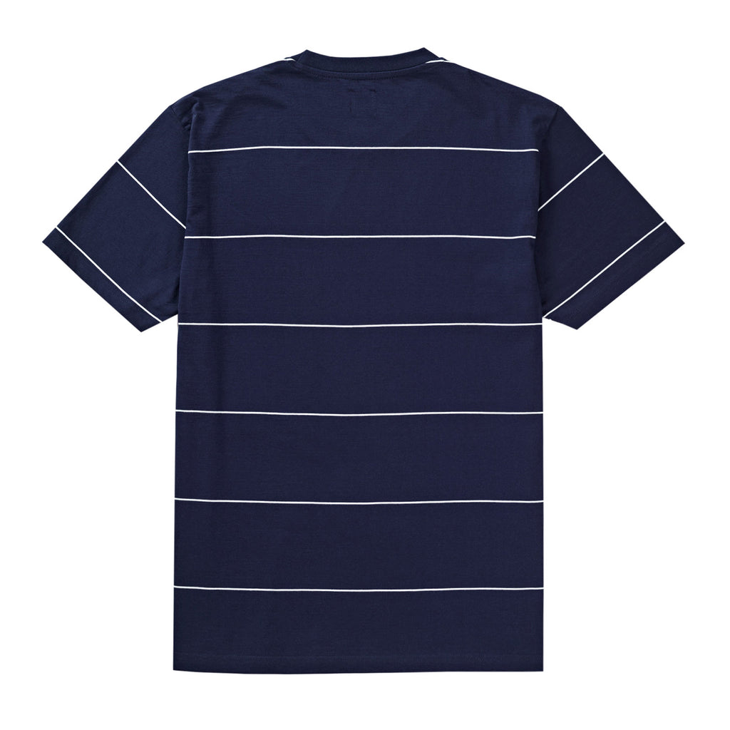 Polar Skate Co Striped T Shirt in Navy - Back