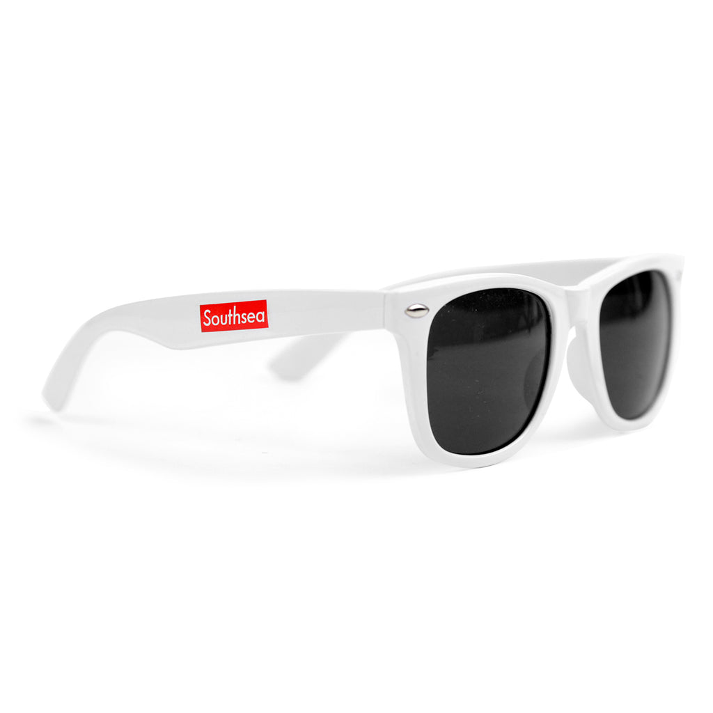 "Bored of Southsea ""Southsea"" Wayfarer Sunglasses in White - Profile"