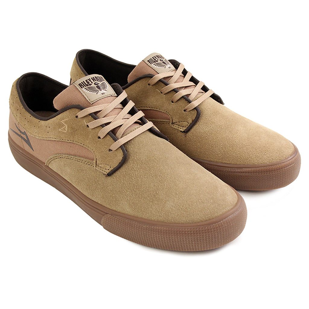 Lakai Riley Hawk Pro Shoes in Walnut Suede/Gum - Pair