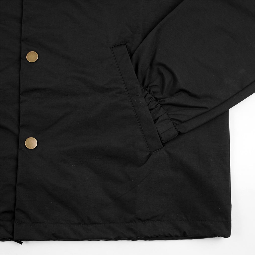 Southsea Bronx Strong Island Coaches Jacket in Black on Black - Cuff
