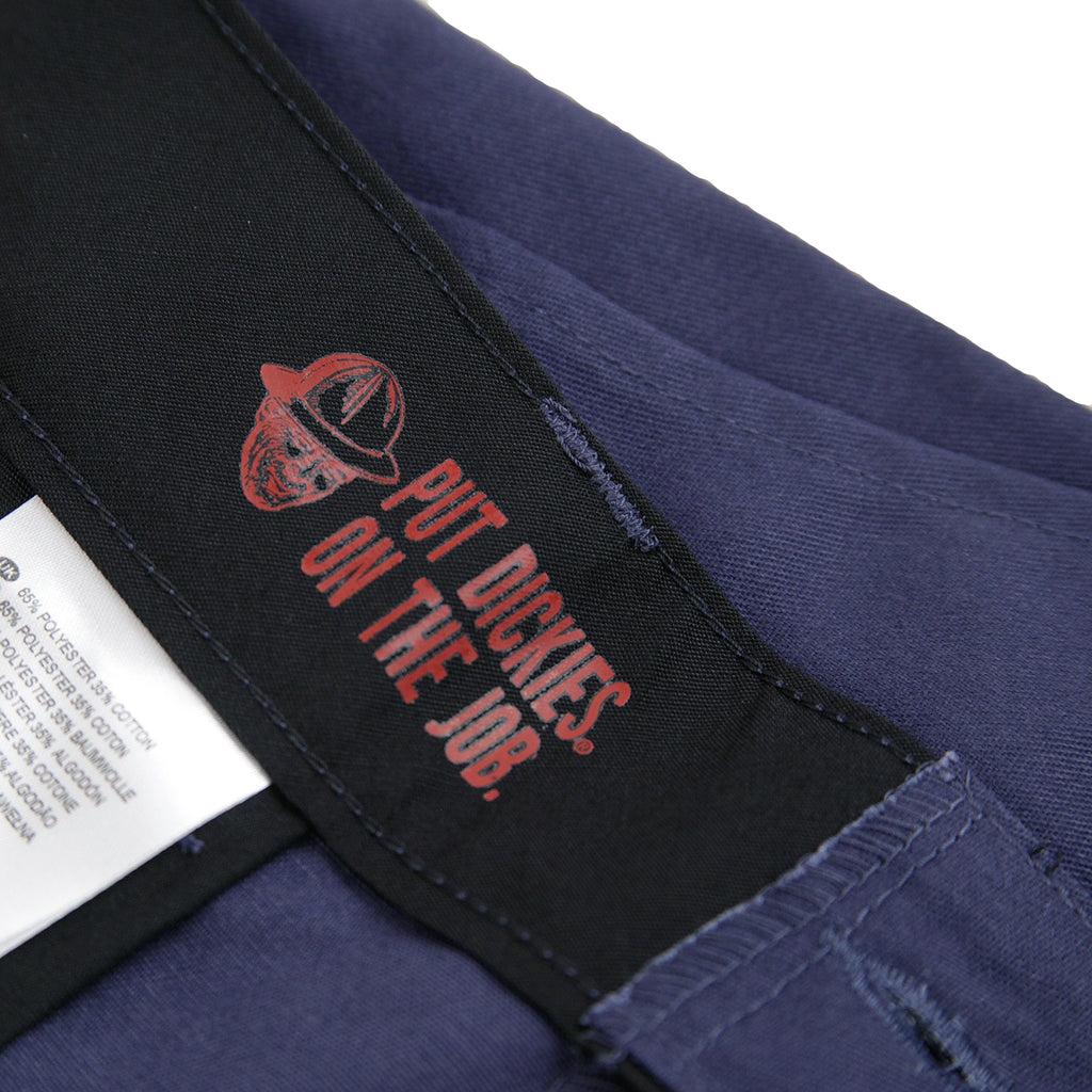 Dickies 894 Industrial Work Pant in Navy Blue - Inside Print