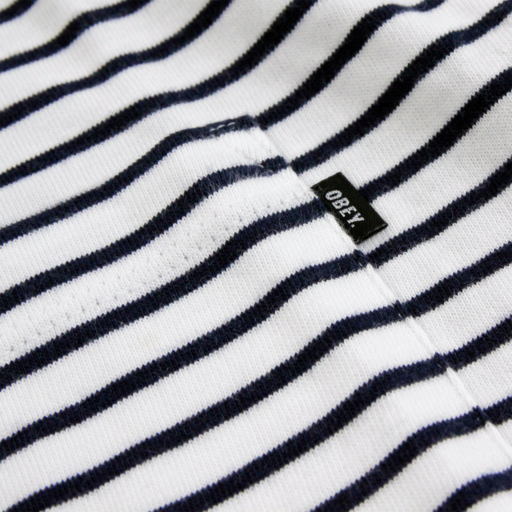 Obey Clothing Richmond Pocket T Shirt in Navy / Multi - Pocket label