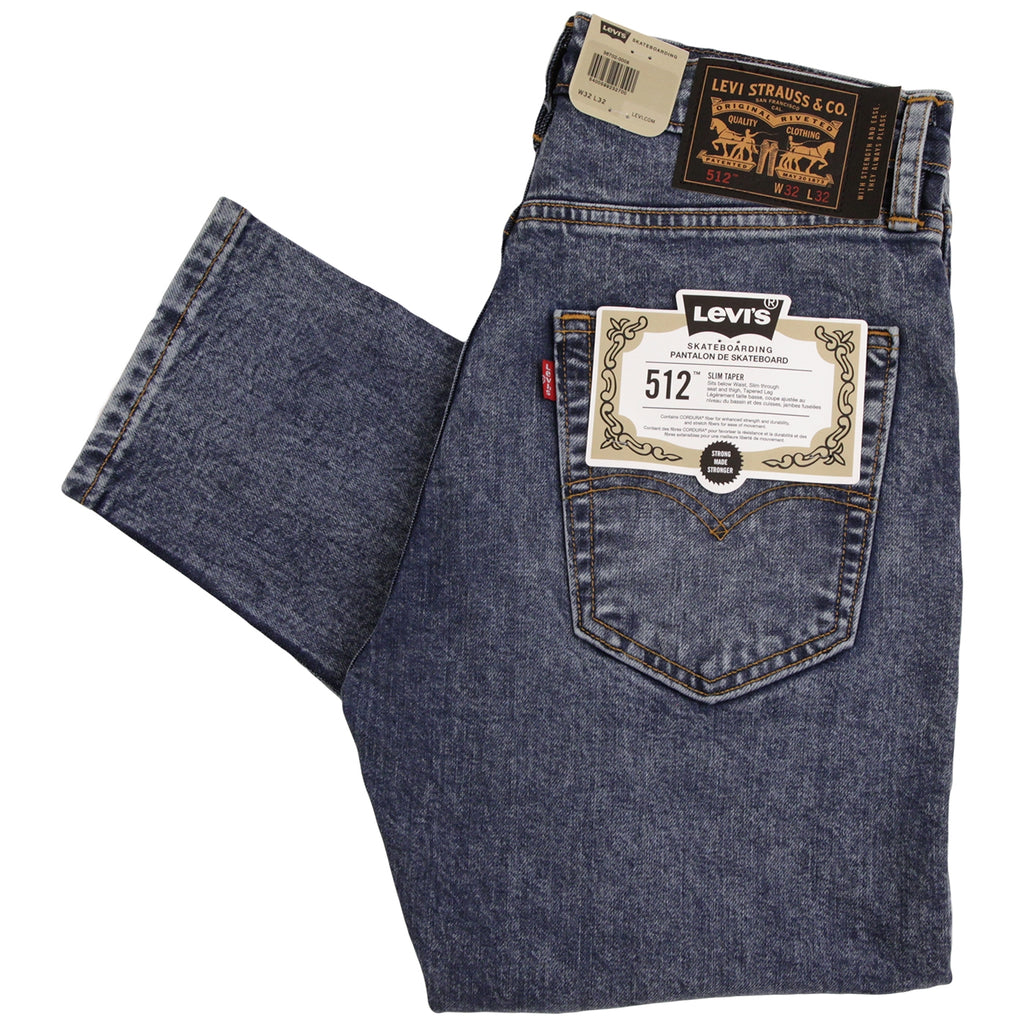 Levis Skateboarding 512 Slim Taper Jeans in Hack - Folded