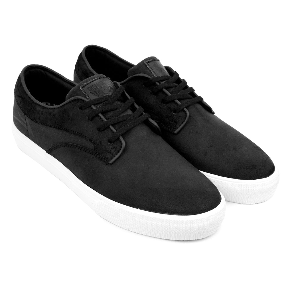Lakai Riley Hawk Oiled Suede Shoes in Black - Pair