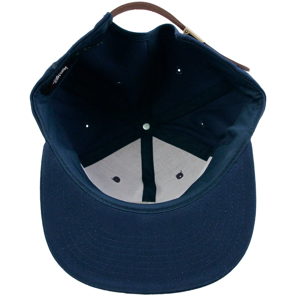 8a95242ecfd Stussy Classic S Strapback Cap in Navy - Inside