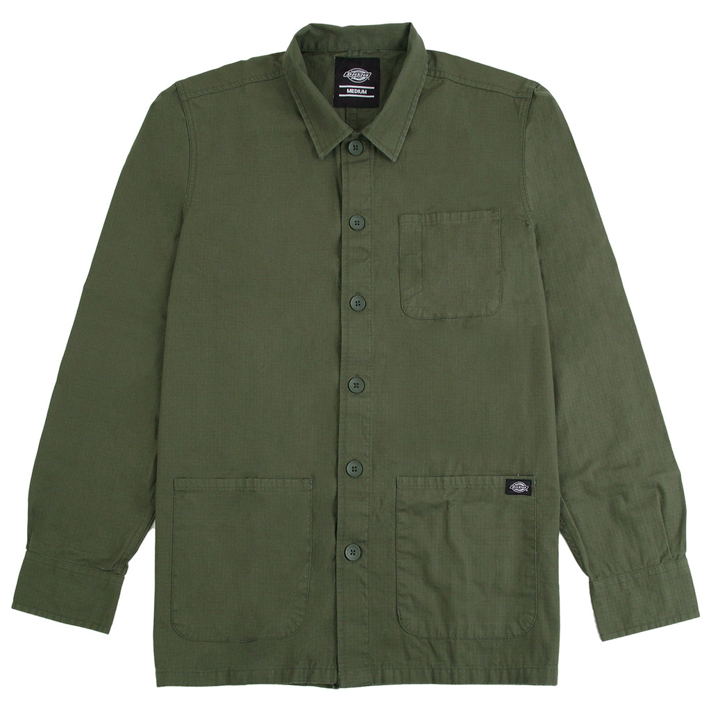 Dickies Kempton Shirt in Dark Olive