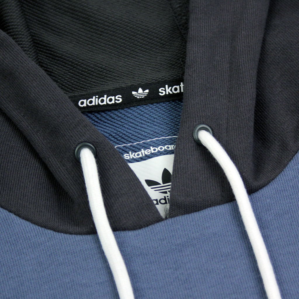 Adidas Skateboarding ADV Blocked Hoodie in Carbon / Faded Ink / Burgundy - Drawstrings